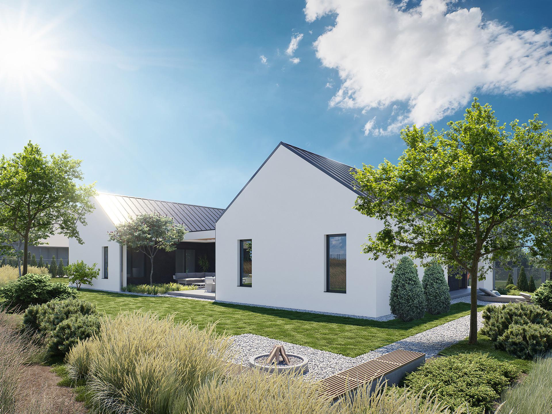 3D House Visualisation Backyard