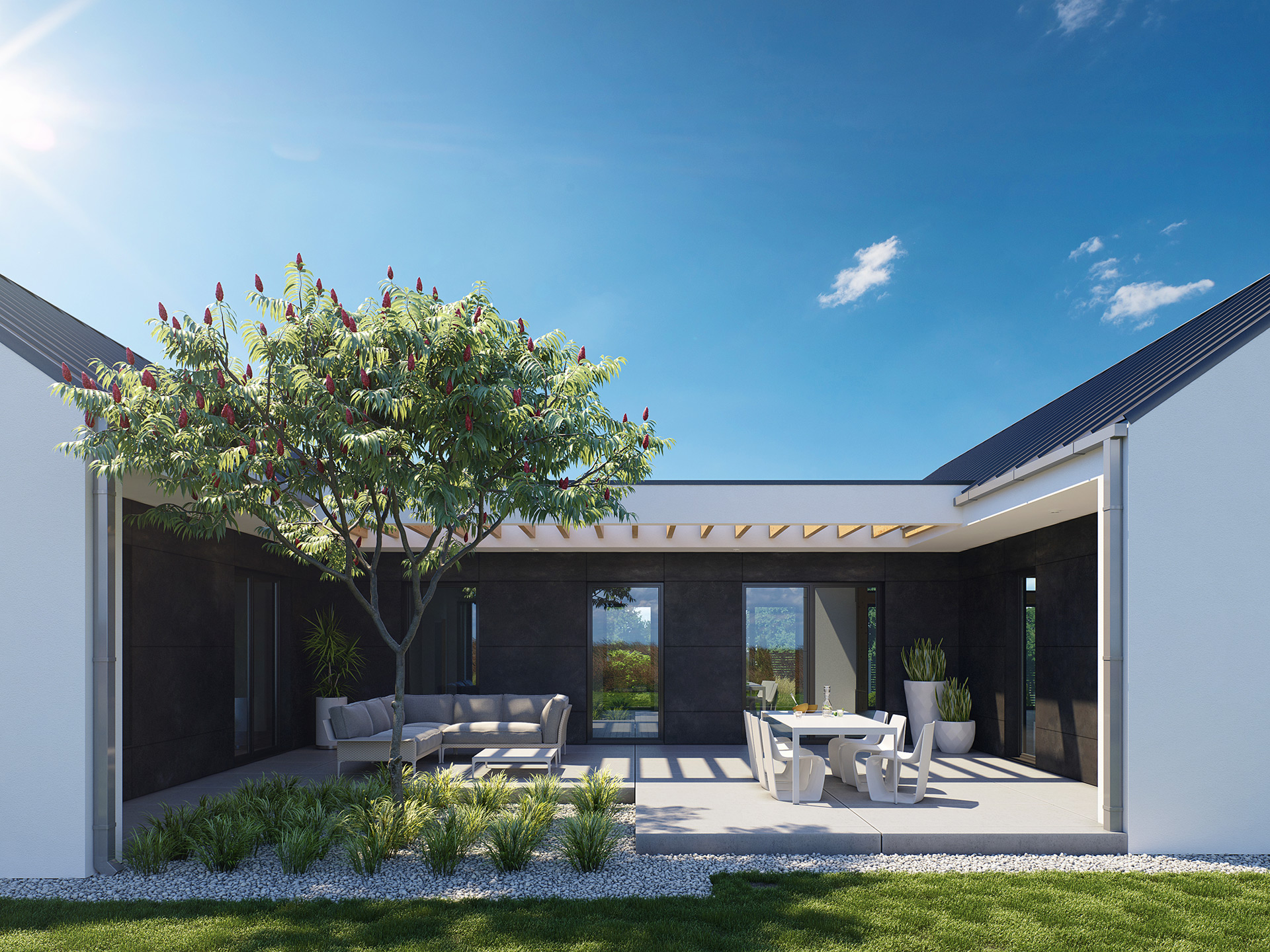 3D House Visualization Patio