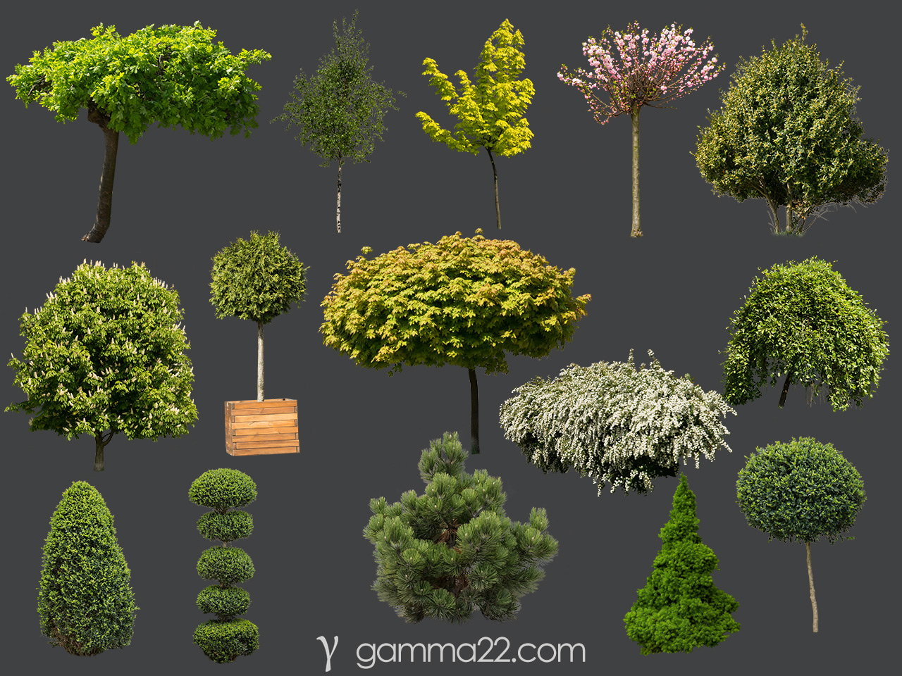 Free Vegetation Cutouts for architectural visualization